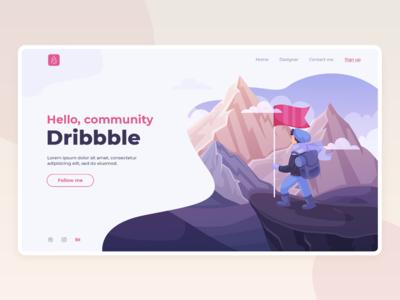 Hello Dribbble Community