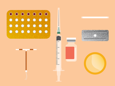 Contraceptive Methods Illustrations