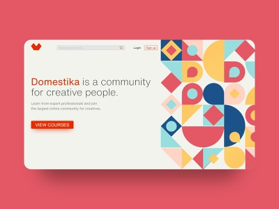 Domestika | Landing UI Design website design patterns minimal adobe xd landing page dailyui ux uidesign design ui