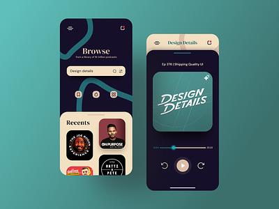 Podcast App | UI Concept ui design pattern 2d ui inspiration 2021 design podcast app music app app ui ux app uiux app ux adobexd app ui uidesign ui uiux app design daily ui adobe xd dailyui