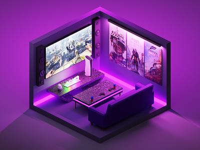 Gaming | TinyRoom minimal blender 3d