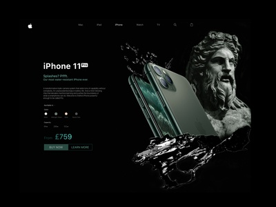 iPhone11 Pro Product page UI/UX