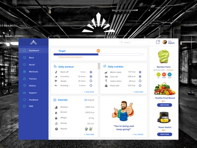 Fitness Dashboard UI/UX