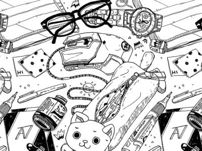 Illustrative Pattern: On My Desk