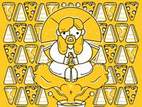 Illustrative pattern   cheesus christ  small