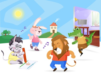 Bestie App Characters Illustration children app children childrens character childrens illustration product illustration character illustration