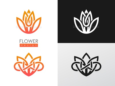 Creative flower inspiration vector logo design template