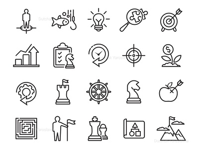 Business Planning Line Icons Set