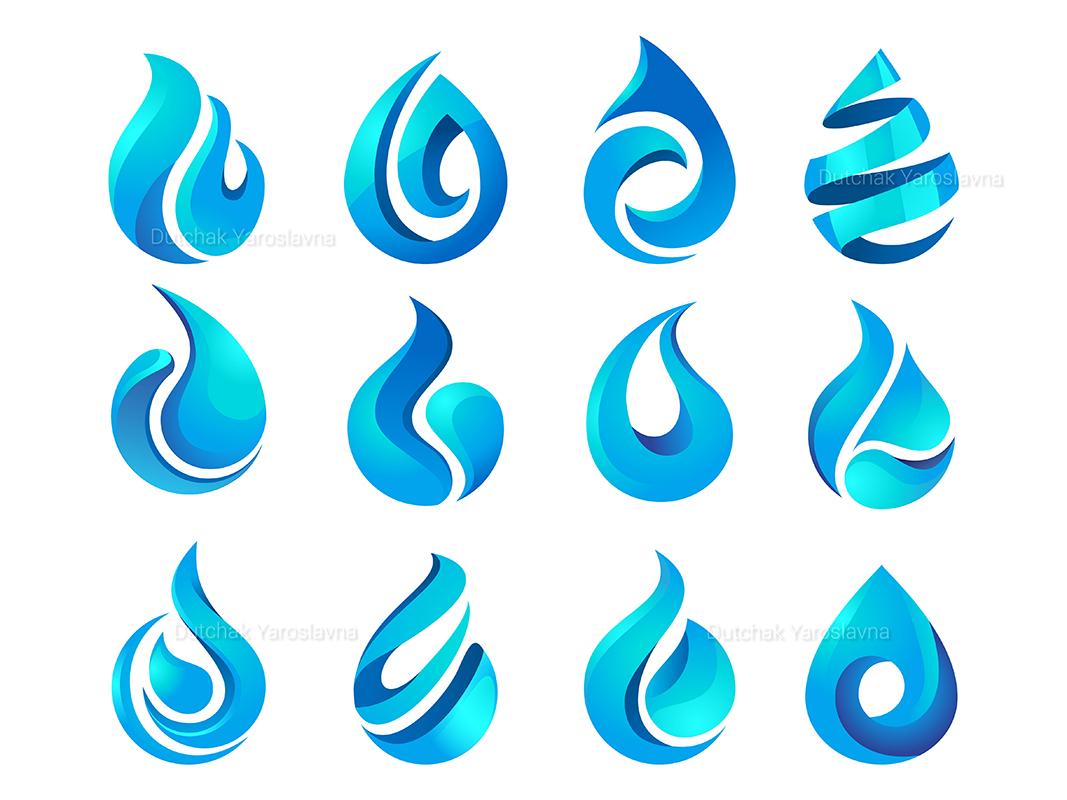 Water drop graphic gradient waterdrop water icon vector app illustrator illustration logo design brand logotype logodesign logo branding design