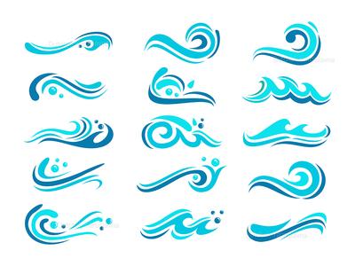 Wave Icon Set
