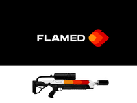 FLAMED red minimalist grid concept creative hot spark flame fire