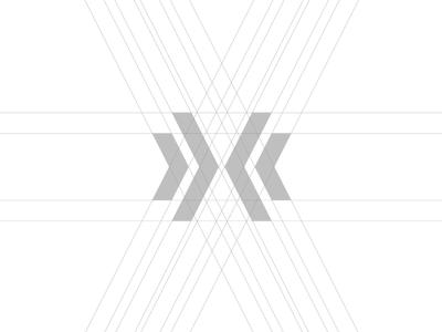 DOUBLE X GRID linestyle grid design logo grid letter x grid logo shape letter monogram letter mark clean concept minimalist creative monogram x lines grid