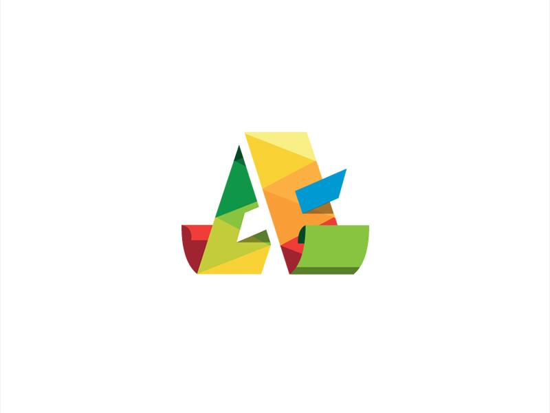 3D A Letter Low Poly