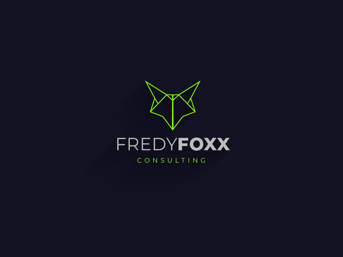 Fox minimal Logo website lettering mascot icon type ui green typography free downloads animation vector minimal clean illustrator branding logo art flat illustration design