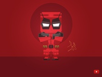 Design Deadpool with simple shapes