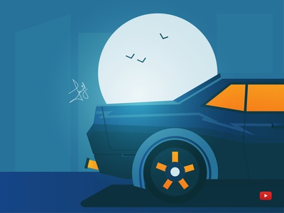 Flat Car Illustration