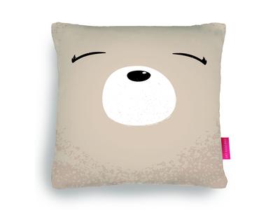My polar bear face cushion