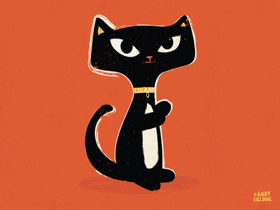Suspiciously Cute Black Cat