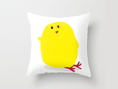 Cute Fluffy Yellow Baby Chick