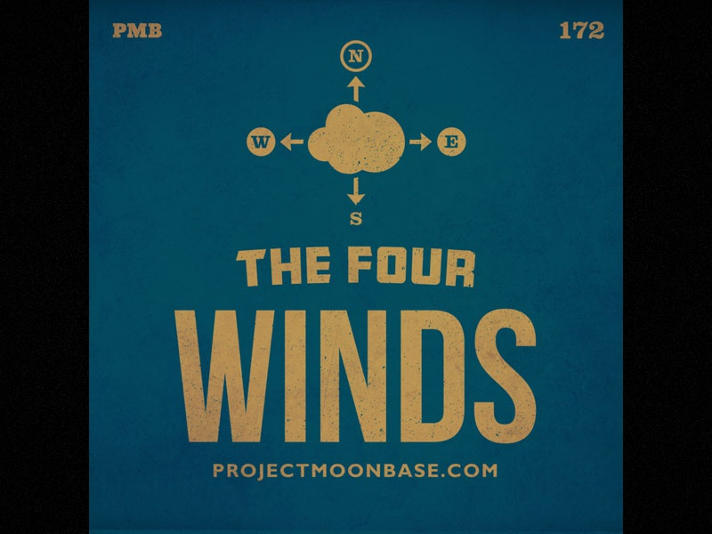 The Four Winds blue cover climatology meteorology wind typography projectmoonbase