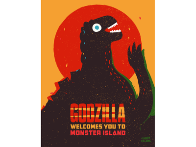 Godzilla Welcomes You to Monster Island Poster