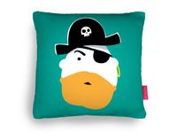 Red Beard Pirate Cushion