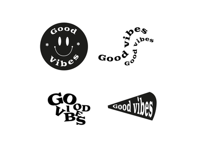 Good Vibes badges funny graphicdesign badge vibes