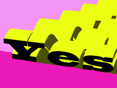 Yes wave popart motion design motion graphics graphicdesign typogaphy type motion
