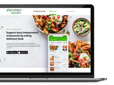 Nobly Delivery website delivery app b2b design food app delivery