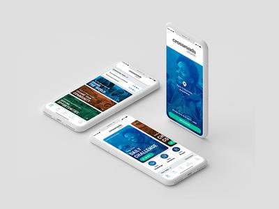 Crossroads app uiuxdesign clean design ios church pray app