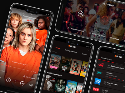Streaming app mobile ui app design watch movies tv app