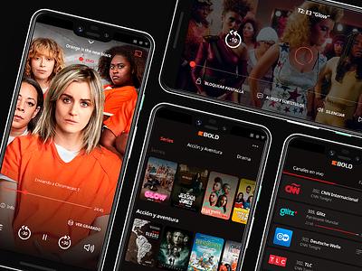 Streaming app mobile ui app design watch movies tv app