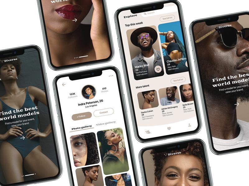 Diverse app app fashion diversity black models