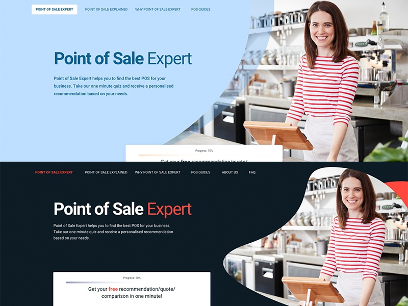 Landing page color variants graphicdesign landingpage web design web