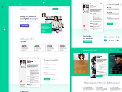 CV maker homepage