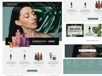 Beauty products homepage