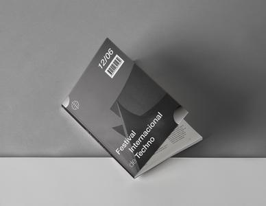 Festival Internacional de Techno minimal typography logo branding design