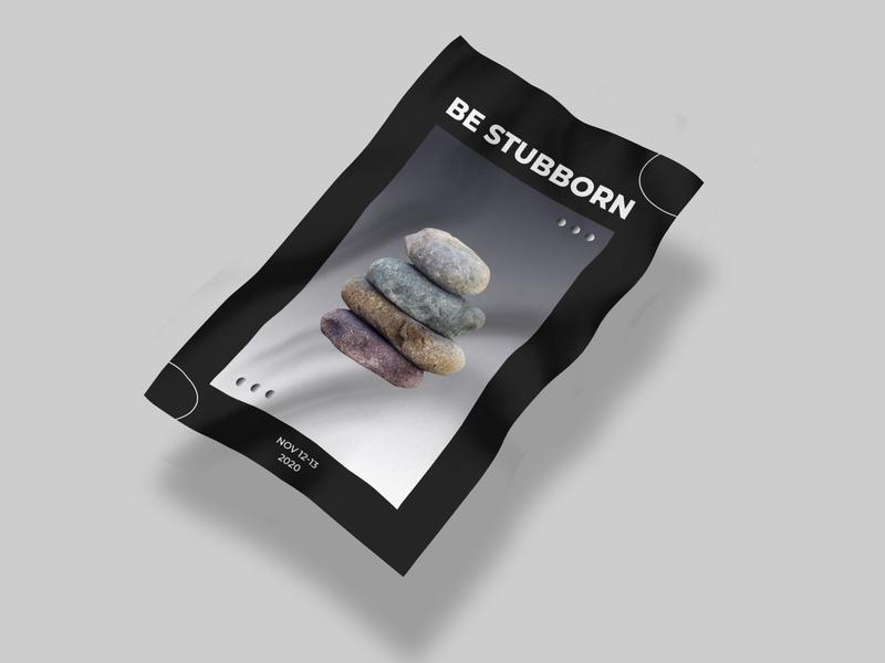 Be Stubborn logo vector typography illustration minimal design branding