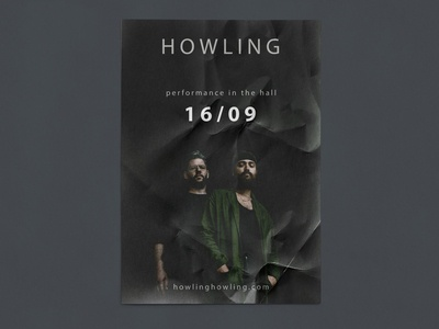 Event poster creative performance data howling music event design poster minimal logo typography branding