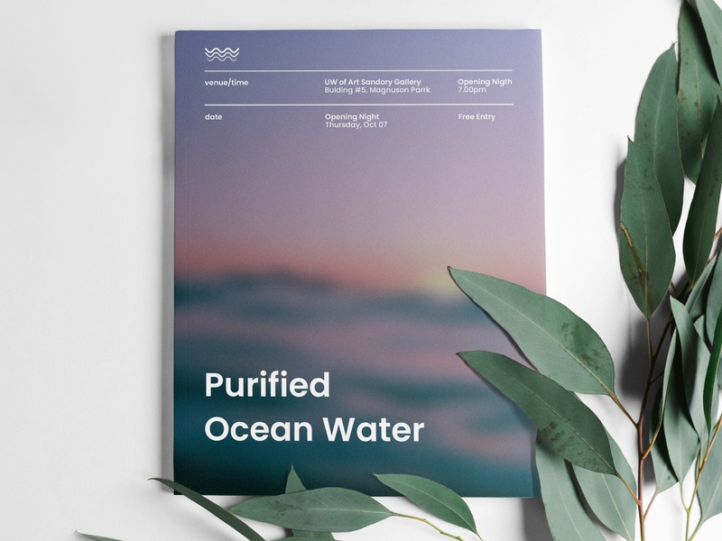 Cover for brochure ocean art cover water brochure event creative baner poster minimal logo design typography branding