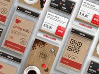 Vida e caffè Skeuomorphic App Concept Screens