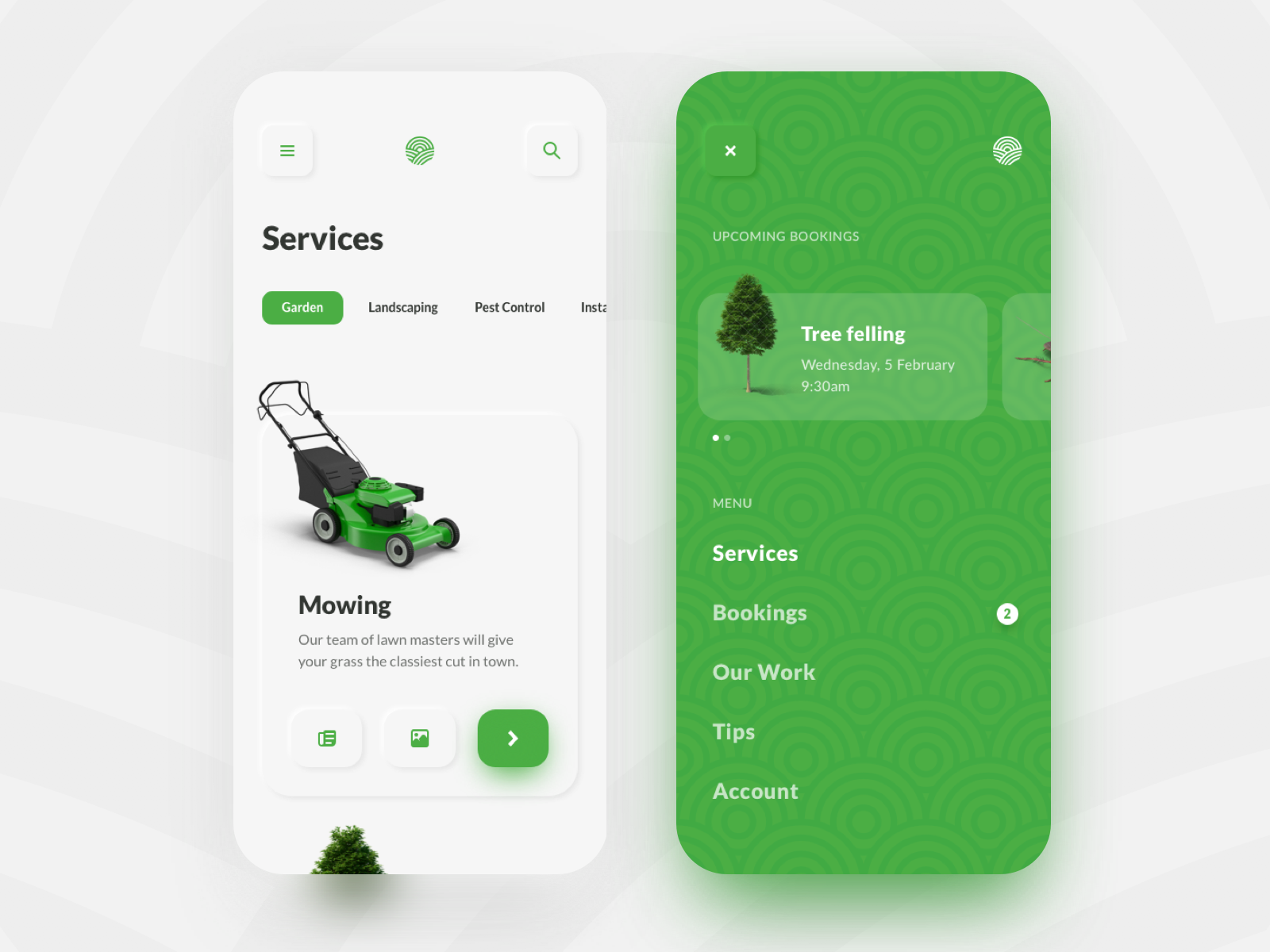 Lawn & Garden Care App by Gary Byrne on Dribbble