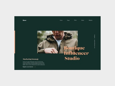 Boutique Influencer Studio concept (No. 001)
