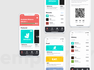 emploYAY. banking logo vector rewards spending design ux branding ui app