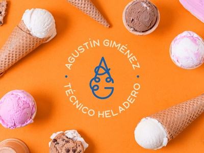 Agustín Giménez - Ice Cream Technician design identity personal branding logotype logo ice cream logo ice cream