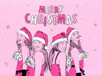 Merry Christmas! happy christmas happychristmas merrychristmas christmas film poster design typography brushes hand drawn art photoshop illustration rachaelmcadams lindsaylohan film texture movie girls mean meangirls