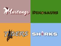 Gauntlet Games Team Logos