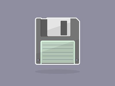 The Ultimate Storage Device minimal simple illustrator nostalgia retro 90s 80s deadtech oldschool vectorillustration vector vectorart floppy floppydisk
