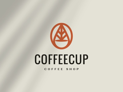 Coffee Cup Logo Concept leaf logo coffee bean coffee logo cafe cafe logo coffeeshop coffee branding simple logo modern logo design minimalist logo simple minimalist design logo