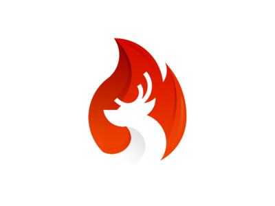 Deer Fire Logo Concept